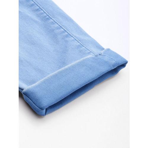 Kraus Jeans Women Blue Solid Skinny Fit Mid Rise Capris