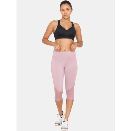 Zelocity Women Purple Solid Skinny Fit Capris