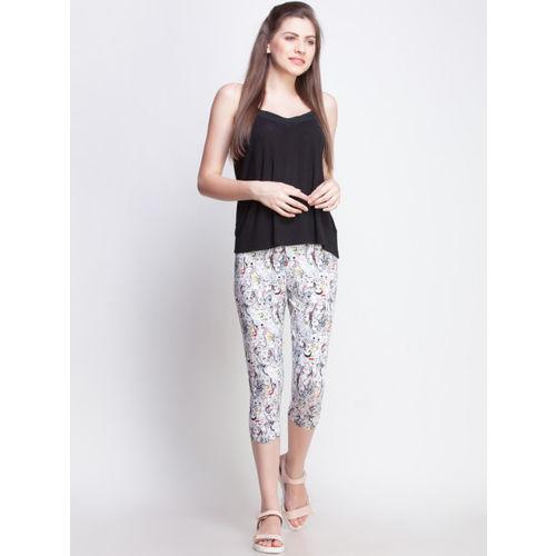 Dollar Missy Women Pack Of 2 Printed Slim Fit Capris