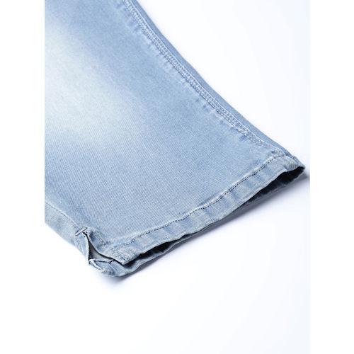 aLL Women Blue Washed Regular Fit Denim Capris