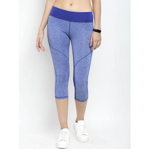Active Soul Women Blue Solid Skinny Fit Capris