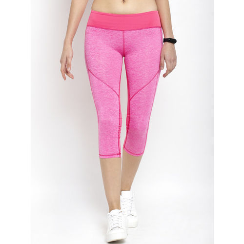 Active Soul Women Pink Solid AptDry Technology Skinny Fit Capris