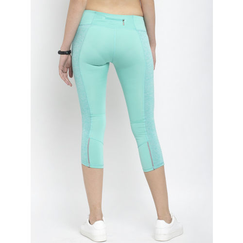 Active Soul Women Green Solid Skinny Fit Capris