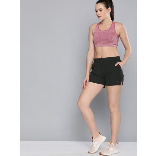 HRX by Hrithik Roshan Women Black Regular Fit Rapid DryAntimicrobial Running Shorts