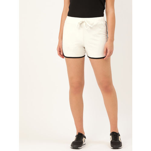 Rute Women White Solid High-Rise Regular Shorts