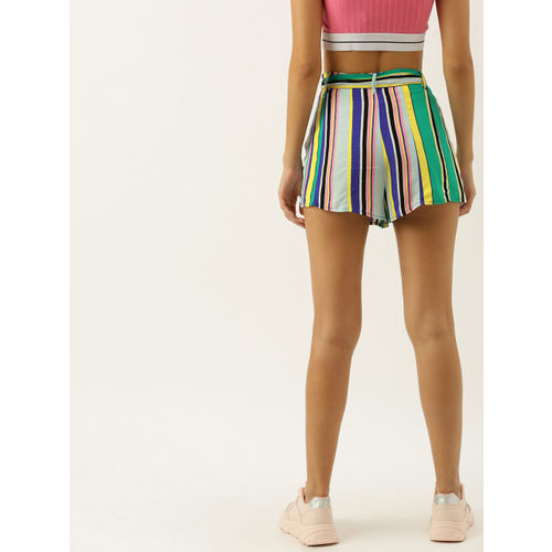 FOREVER 21 Women Multicoloured Candy Striped Regular Fit