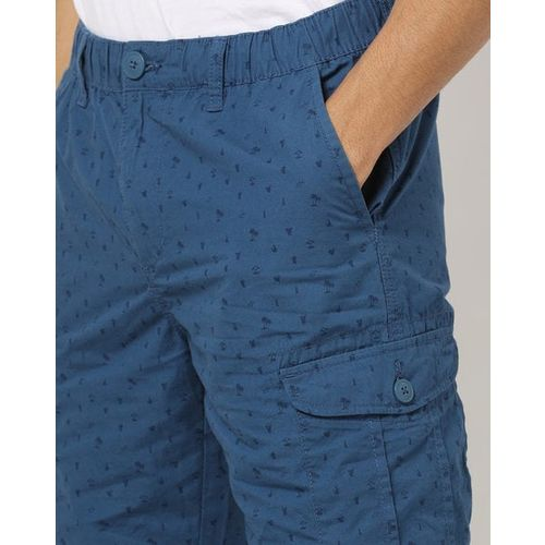DNMX Ditsy Print Slim Fit Cargo Shorts