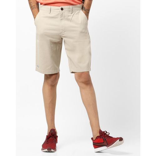 INDIAN TERRAIN Mid-Rise Flat-Front Shorts
