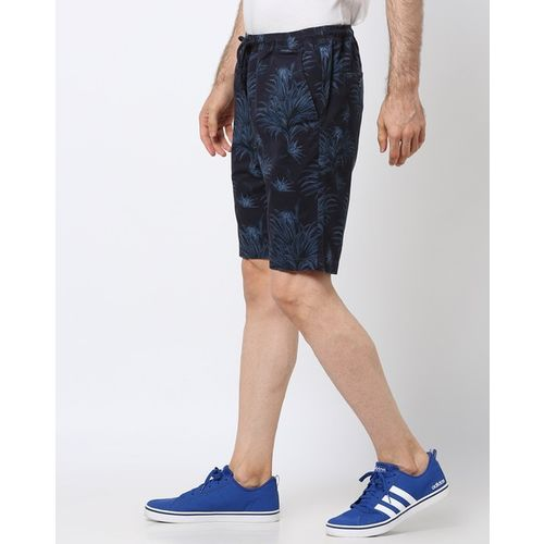 DNMX Leaf Print Slim Fit Shorts