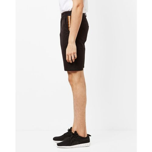 AJIO Mid-Rise City Shorts with Belt Loops