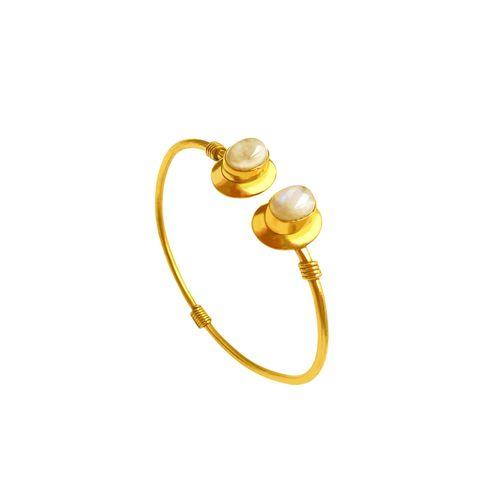 Bling Beautiful Accessories white brass cuffs bracelet