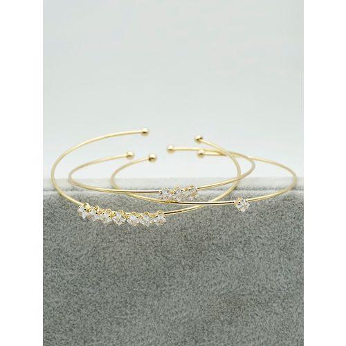 Kiyara gold metal bangle bracelet