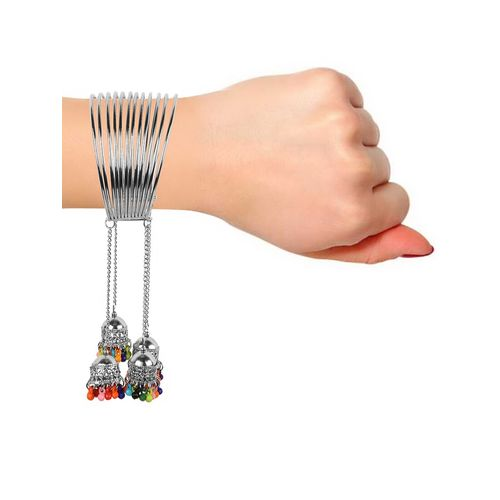 muccasacra silver metal cuffs bracelet