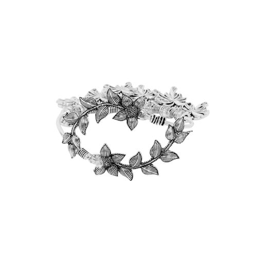 ZeroKaata silver metal cuffs bracelet