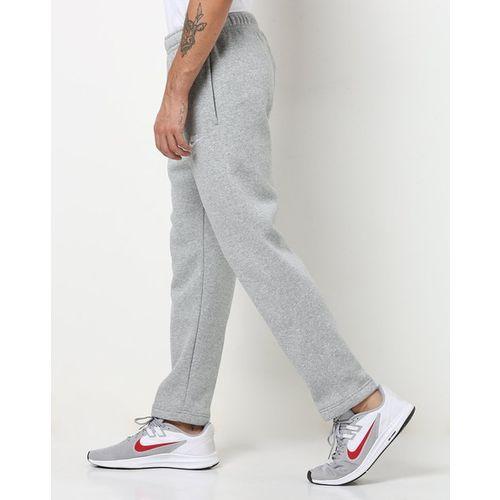NIKE Mid-Rise Heathered Track Pants with Elasticated Drawstring Waist