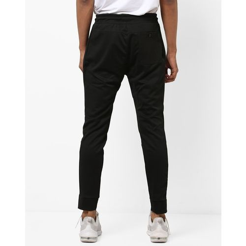 PROLINE Mid-Rise Track Pants with Elasticated Drawstring Waist