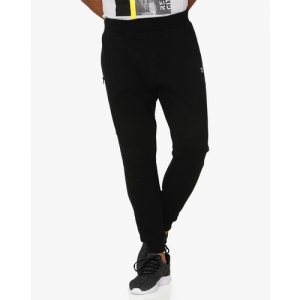 MUFTI Textured Mid-Rise Joggers with Elasticated Drawstring Waist