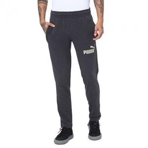 Puma Heathered Track Pants with Signature Branding