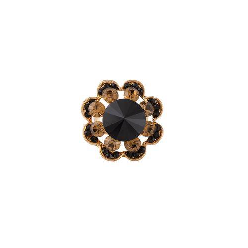 E2O black brass finger ring