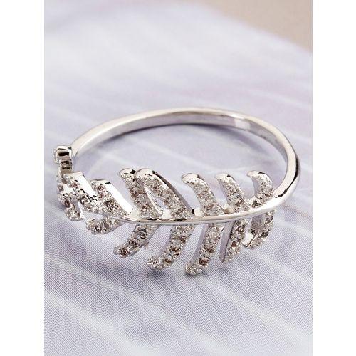 Faryal silver metal ring