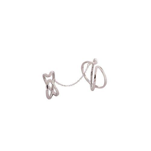 Faryal silver metal finger ring
