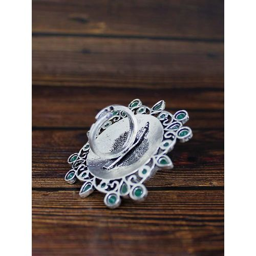 Ferosh green metal finger ring