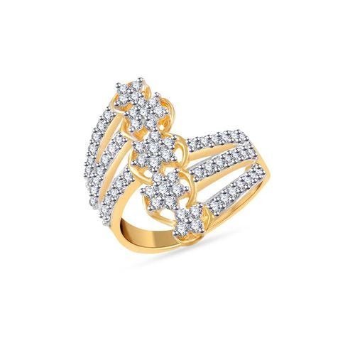 VK Jewels gold metal ring