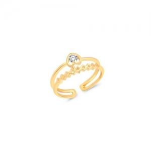 VK Jewels gold brass finger ring