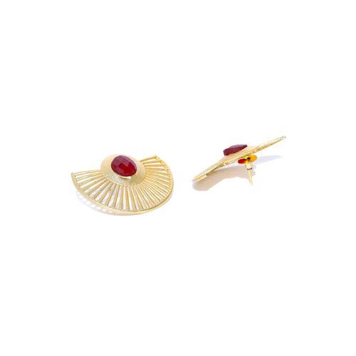 Panash red brass drop earring