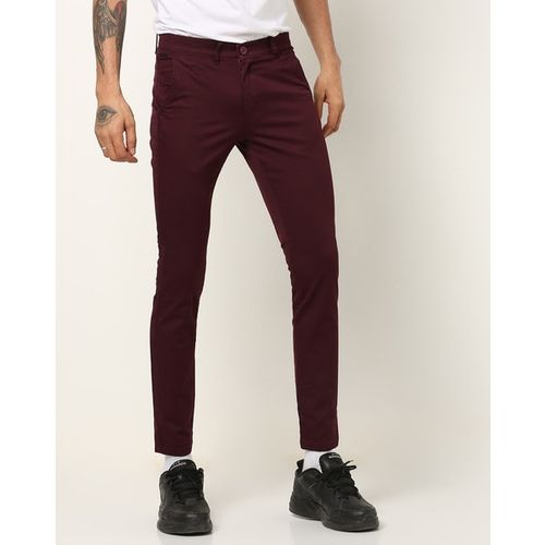 The Indian Garage Co Flat-Front Slim Fit Chinos