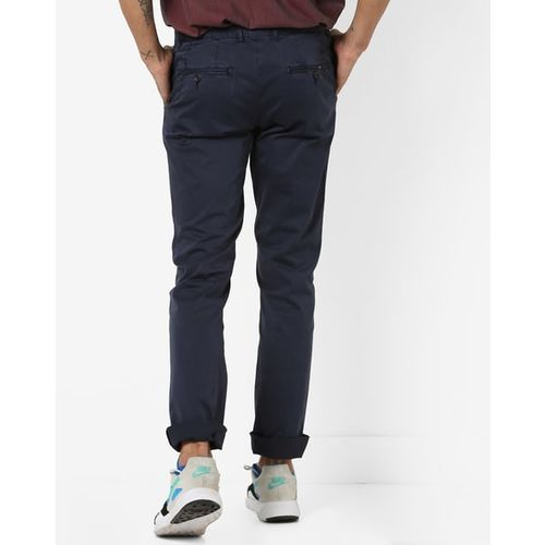 BASICS Tapered Fit Flat-Front Pants