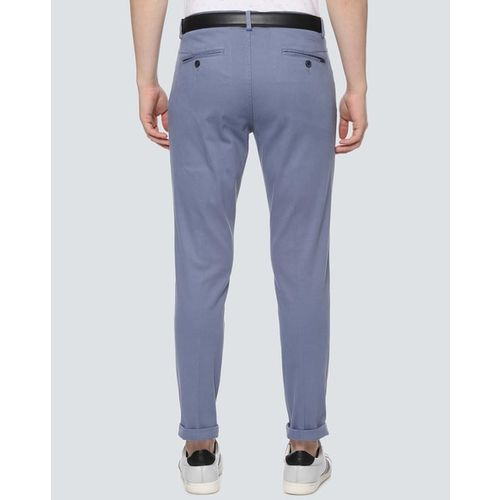LOUIS PHILIPPE Flat-Front Trousers with Insert Pockets