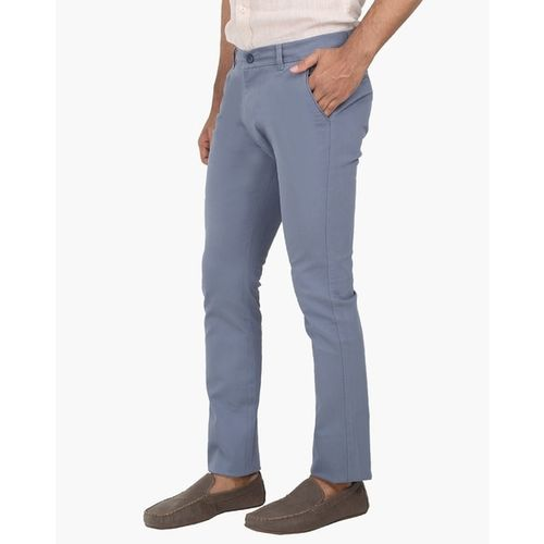 BREAKPOINT Slim Fit Flat-Front Trousers