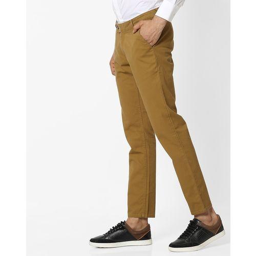 Hubberholme Slim Fit Flat-Front Trousers