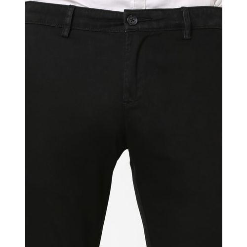 BASICS Flat-Front Skinny Fit Trousers