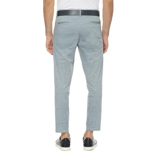ALLEN SOLLY Textured Mid-Rise Trousers