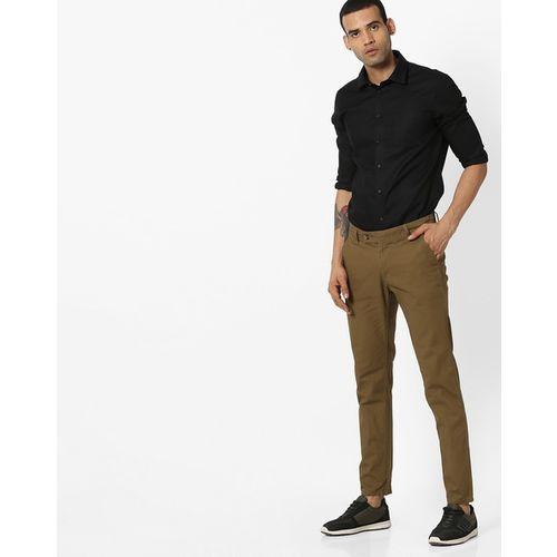 Hubberholme Flat-Front Mid-Rise Slim Trousers
