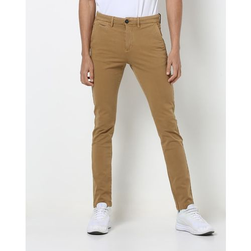 Celio Flat-Front Ankle-Length Chinos
