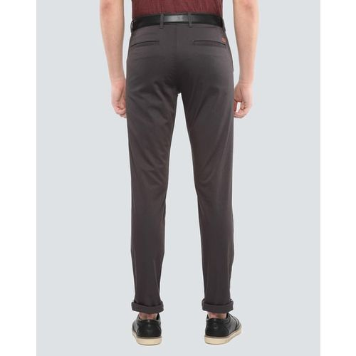 VAN HEUSEN Textured Mid-Rise Trousers