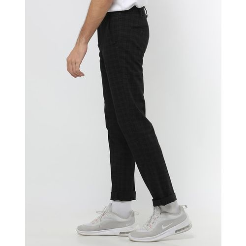 Killer Checked Slim Fit Flat-Front Trousers