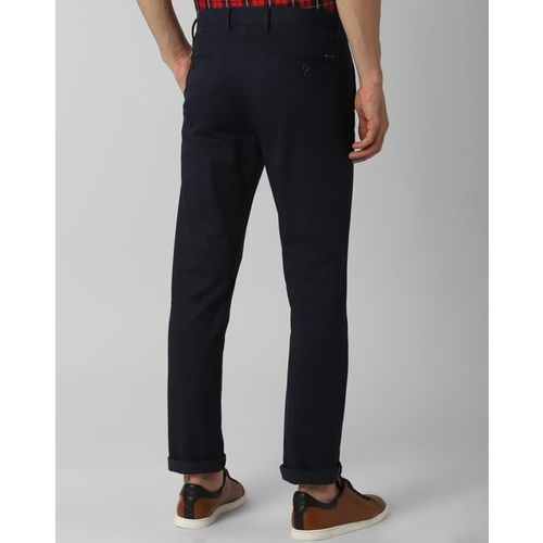 PETER ENGLAND Flat-Front Trousers with Insert Pockets