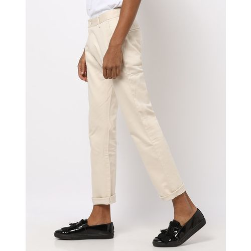 British Club Slim Fit Flat-Front Chinos