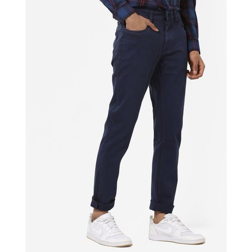 Blue Saint Mid-Rise Slim Fit Trousers