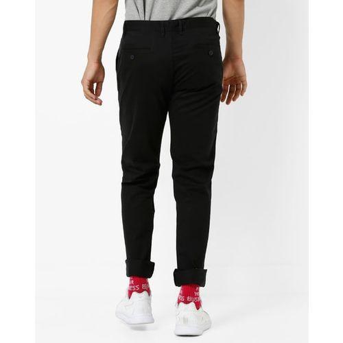 IZOD Cotton Slim Fit Flat-Front Trousers