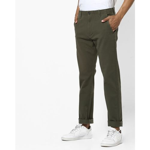 LEVIS 502 Tapered Fit Flat-Front Chino Pants