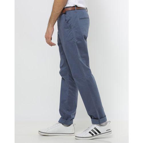 Jack & Jones Slim Fit Flat-Front Trousers