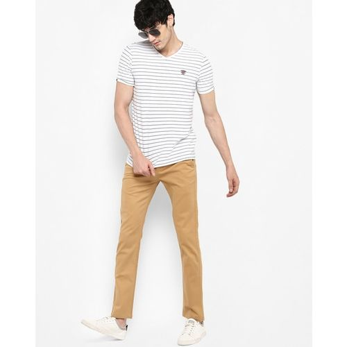 SPYKAR Low-Rise Slim Fit Trousers