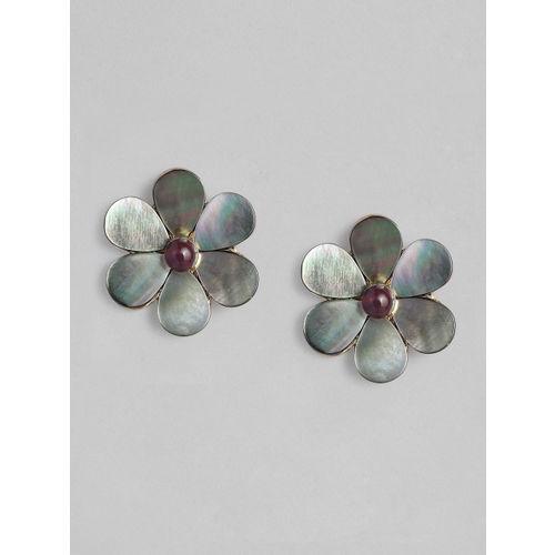 Accessorize Grey Floral Studs
