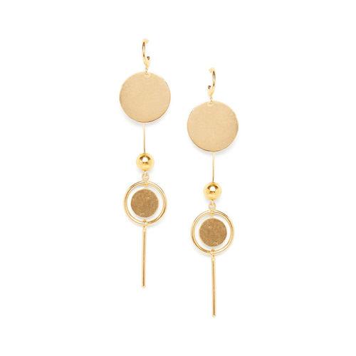 ZeroKaata Gold-Toned Classic Drop Earrings