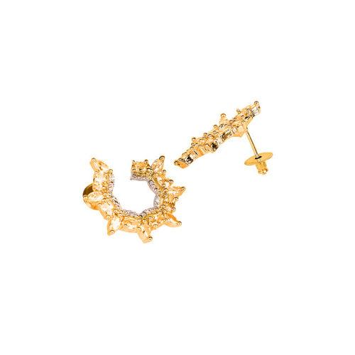 Bhana Fashion Gold-Plated Crescent Shaped Studs